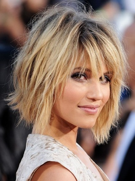 Dianna-Agron-Messy-bob-Hairstyle-For-Party-hair-look