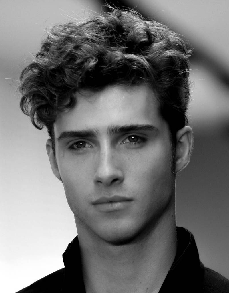 Long Curly Hair Men Cut
